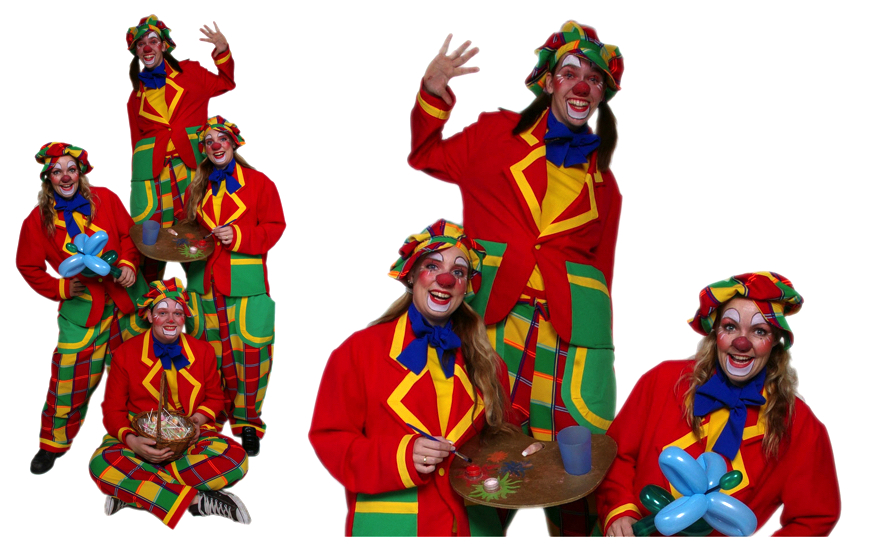 Clowns Kwartet - (Kinder Entertainment)