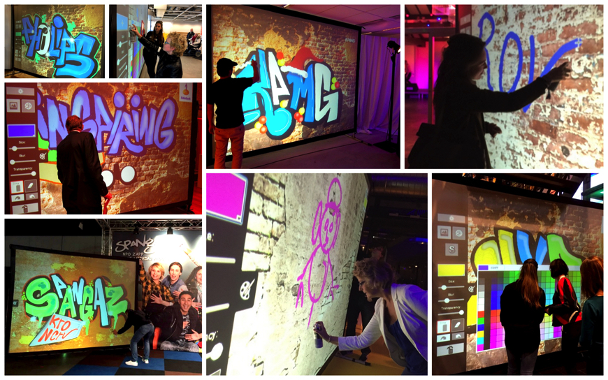 Digitale Graffiti Muur - (Doe Entertainment)