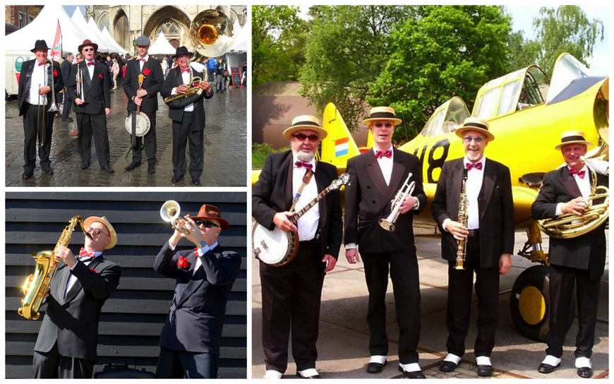 Zwarte Smoking Dixieland Looporkest (J61)