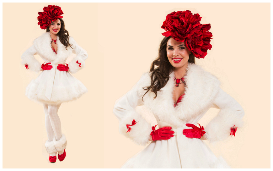 Winter Girls White Red - (Modellen S107)