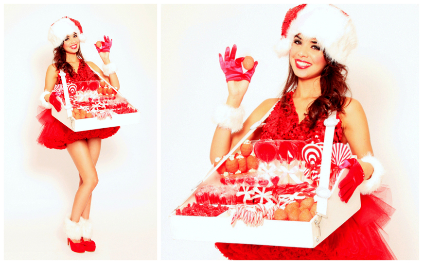 Candy Christmas Girls Rood Wit - (Modellen E13)