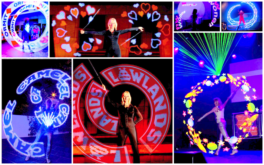Light Bol Show met LOGO LED - (Podiumact)