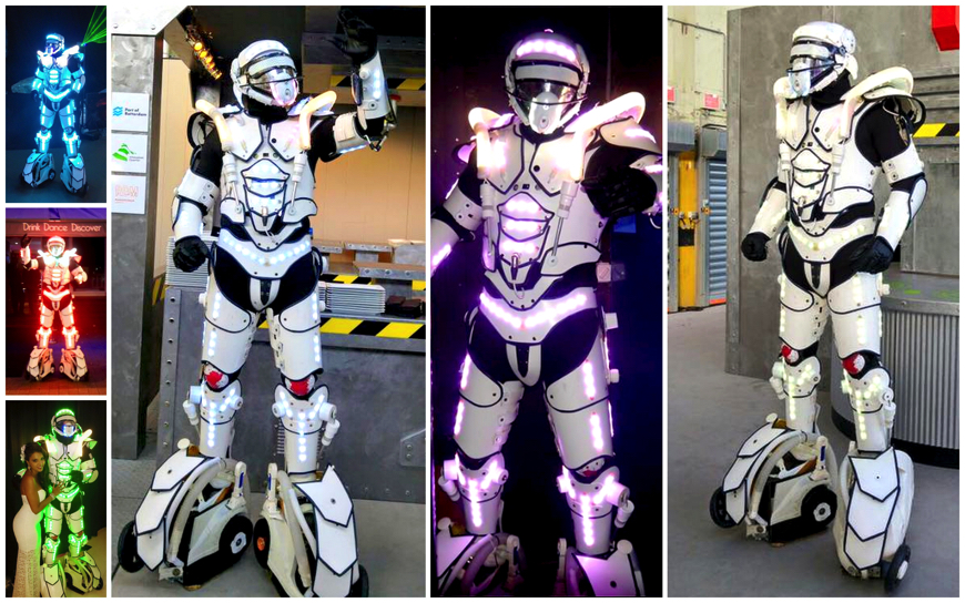 Led Robot White - (Mobiele Act)